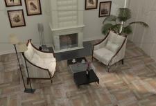 Визуализация с использованием напольной плитки