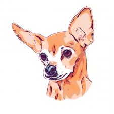 Портрет собаки по фото «Чих»