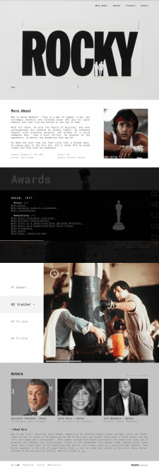Rocky for FILM (webdesign)