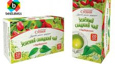 Дизайн упаковок зелёного и чёрного чая со стевией
