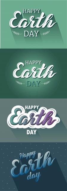 Разработка вариантов открыток ко Дню Земли
