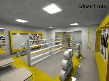 Моделирование и визуализация интерьера магазина