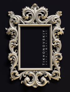 3Д модель рамы зеркала для ЧПУ