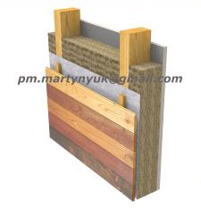 Пирог стены по деревянному каркасу