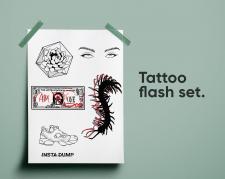 Иллюстрация (векторная / растровая), эскиз тату