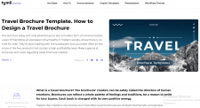 Travel Brochure Template. How to Design a Travel B