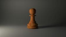 Деревянная фигурка для игры в шахматы