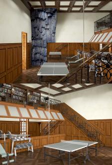 Спортзал для небольшой IT компании (+библиотека)
