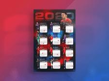 Календарь с футболистами