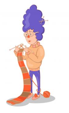 Персонаж Тётушка со странной причёской