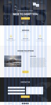 Одностраничный сайт - Landing page(Golden)