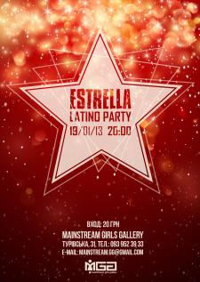 Estrella party poster