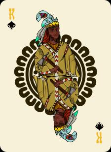 Spielkarten Indians- Farbig12