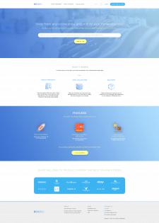 Дизайн главной страницы для сервиса Begeeb