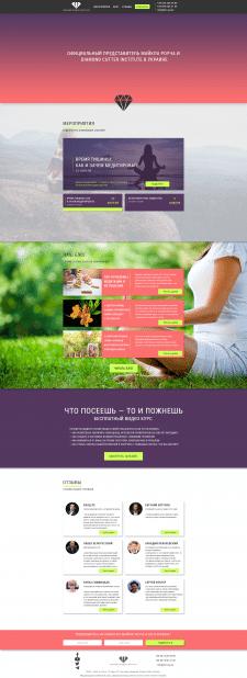 Дизайн Landing Page для Diamond Wisdom Institute