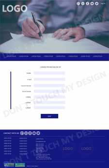 Разработка дизайна страницы сайта