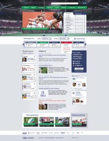 Дизайн информационного футбольного сайта