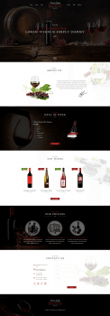 Дизайн сайта RedWine