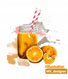 "Иллюстрация ""orange fresh"""