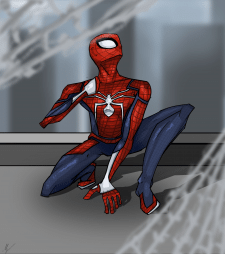 Рисунок человека паука