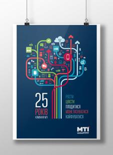 Поздравительный постер для компании MTI