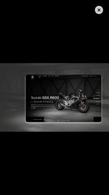 Suzuki ⎮Bikes Web Design⎮BM Design