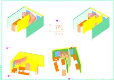 3D ескиз комнат