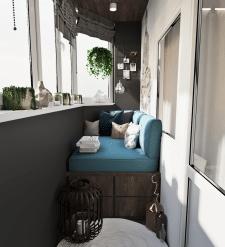 Дизайн балкона для медитаций