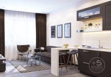 Дизайн проект квартиры студия 60 кв. м. Алмата