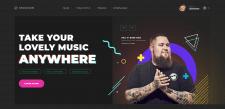 Верстка музыкального сайта
