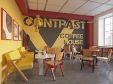 Інтер'єр кафе в стилі конструктивізм