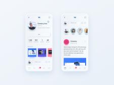 Редизайн приложения ВКонтакте в стиле neumorphic