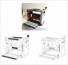 отрисовка оборудования в векторе с фотографии