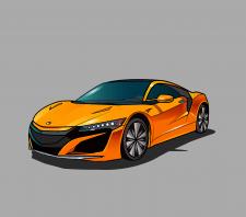 Векторная иллюстрация машины
