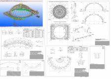 Разработка чертежей КМД конструкций купола