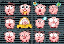 Свинки стикеры для Telegram канала