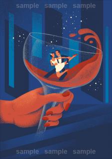 Иллюстрация для книжной обложки.