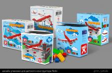 Дизайн упаковки для детского конструктора Nobi