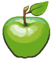 Pixel apple