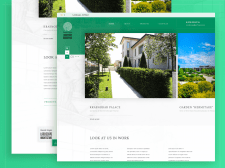 Дизайн главной страницы строительного сайта