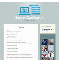 Website creation for WordPress blog, business card