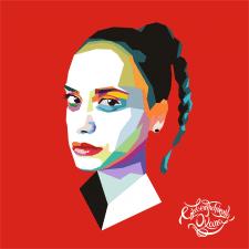 векторный портрет в стиле поп арт