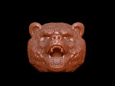 Морда медведя для гири под ЧПУ