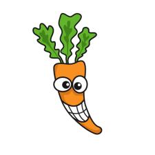 "Персонаж ""бешеная морковка"" для игры ""Фанаты"""