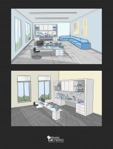 Иллюстрация локации лаборатория для YouTube канала