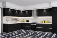 Визуализация кухонного фасада