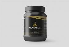 Этикетка ALPHA MAN