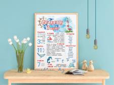 Плакат достижений на день рождения ребенка (1 год)