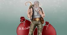 Святой Николай в военной форме