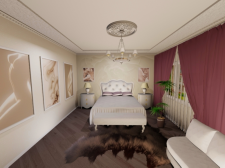 Проект спальни в 3D Max